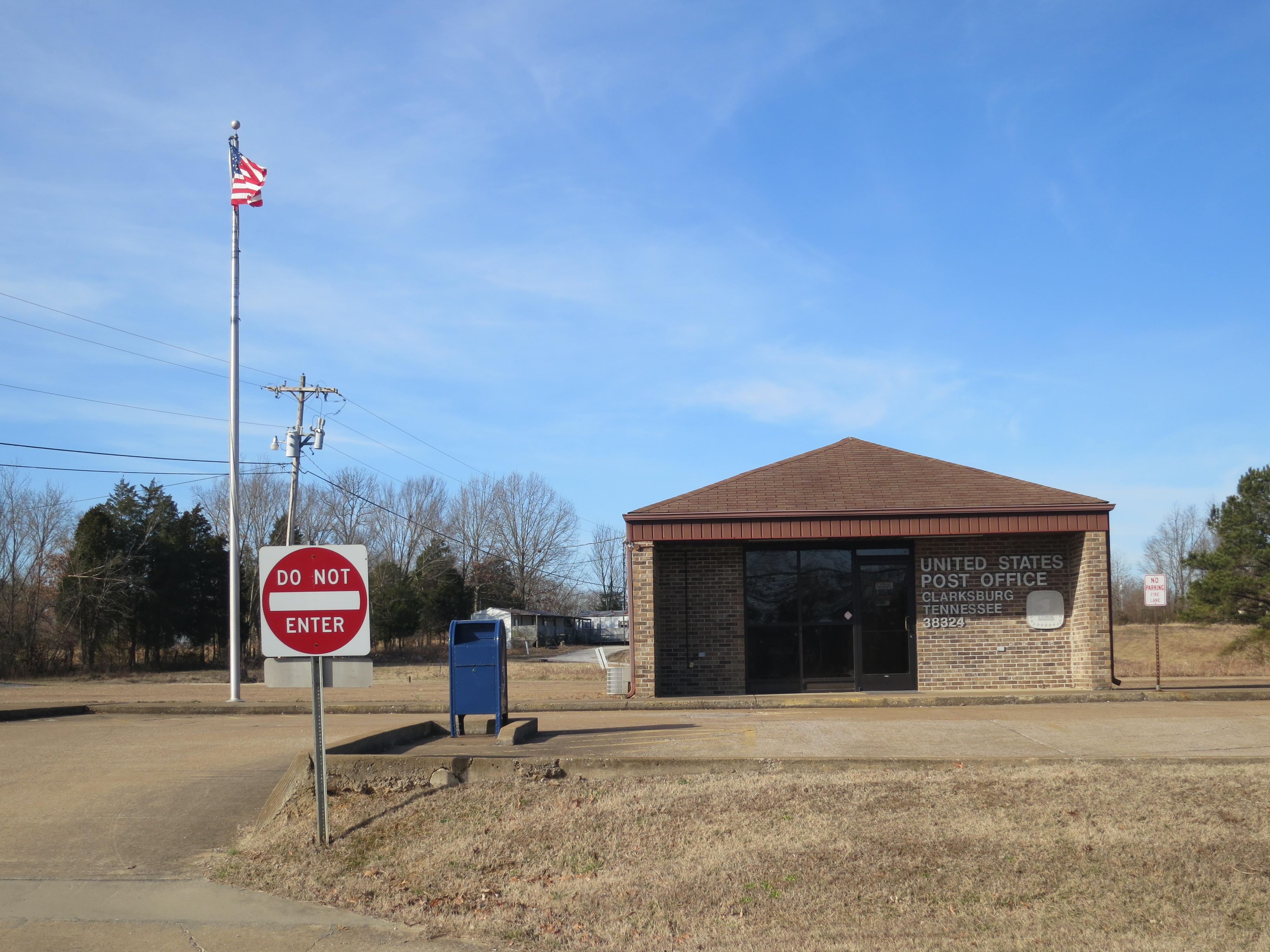 Tennessee carroll county clarksburg - Post_office_2 Jpg