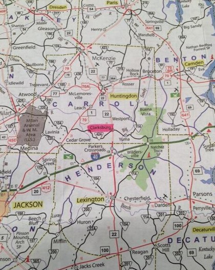 I 69 Tennessee Map.Our Location On Tennessee Map Clarksburg Tennessee